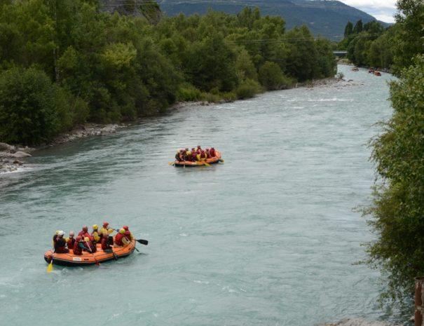 Rafting proche Camping Le Chêne Tallard Hautes-Alpes