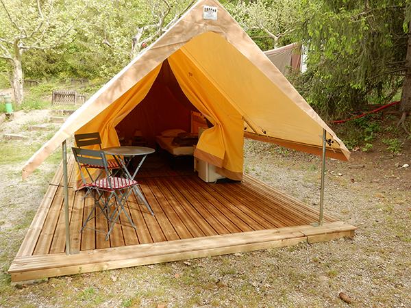 Camping Le Chene Tallard Gap - tente pret a camper