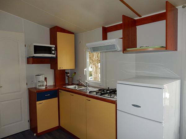 Mobil-Home Cuisine - Camping Le Chêne Tallard - Location